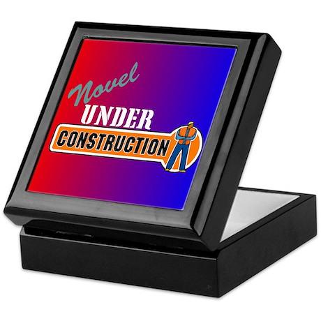 Novel Under Construction Keepsake Box
