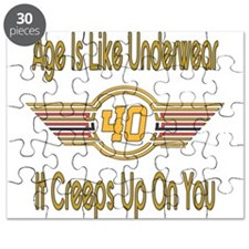 Funny 40th Birthday Puzzle