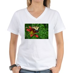 .swallowtail on daylily. Shirt