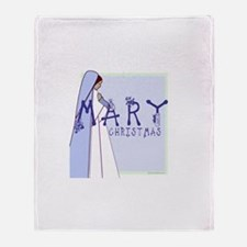 New! Mary Christmas by Svelte.biz Throw Blanket