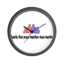 A Family That Prays Together Wall Clock