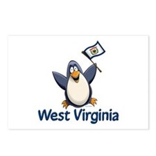 West Virginia Penguin Postcards (Package of 8)