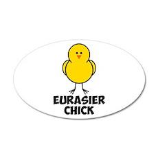 Eurasier Chick 22x14 Oval Wall Peel