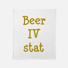 Beer IV stat Throw Blanket