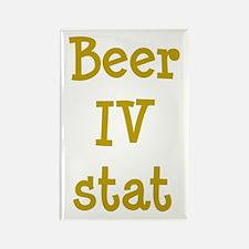 Beer IV stat Rectangle Magnet