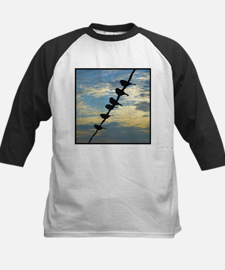 Birds on a Wire Kids Baseball Jersey