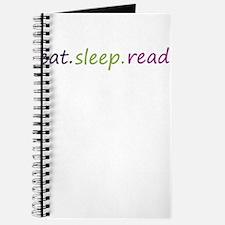 Funny Eat sleep read Journal