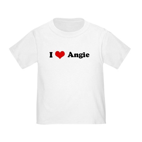 I Love Angie Toddler T-Shirt