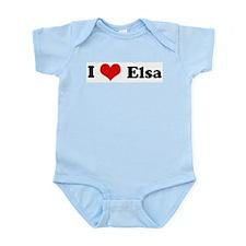 I Love Elsa Infant Creeper