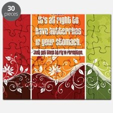 Butterflies Quote on Jigsaw Puzzle