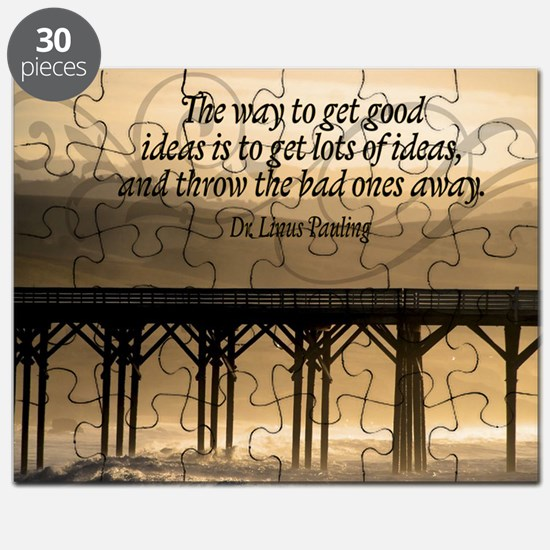 Good Ideas Quote on Jigsaw Puzzle