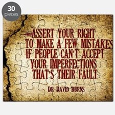 Assert Your Right Quote on Jigsaw Puzzle