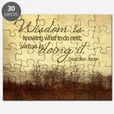 Wisdom and Virtue Quote on Jigsaw Puzzle