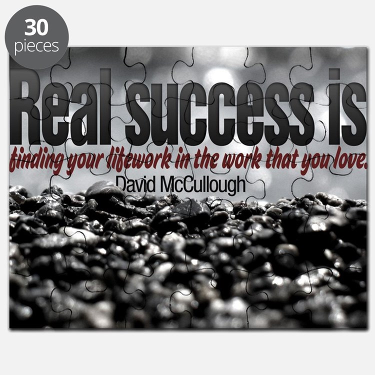 Real Success Quote on Jigsaw Puzzle