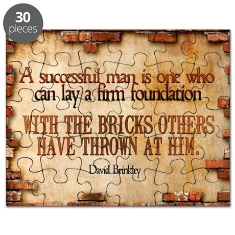 Successful Man Quote on Jigsaw Puzzle
