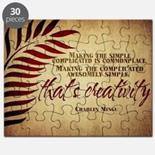 Creativity Quote on Jigsaw Puzzle