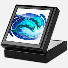 dolphin surf Keepsake Box