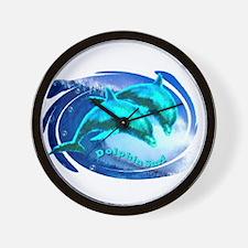 dolphin surf Wall Clock