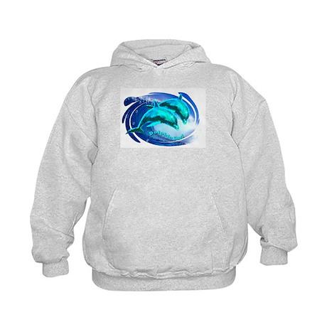 dolphin surf Kids Hoodie