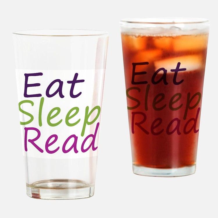 Cute Eat sleep read Drinking Glass