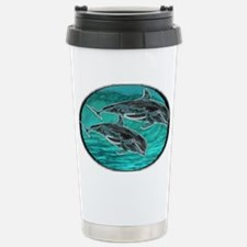 dolphins Stainless Steel Travel Mug