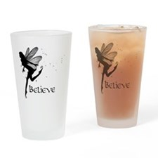 Believe Drinking Glass