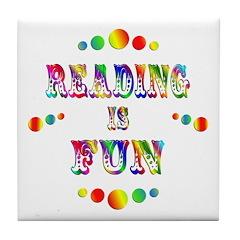 Reading is Fun Tile Coaster