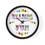 Reading is Fun Wall Clock