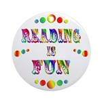 Reading is Fun Ornament (Round)