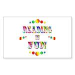 Reading is Fun Sticker (Rectangle 10 pk)