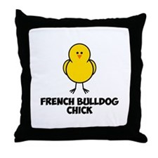 French Bulldog Chick Throw Pillow