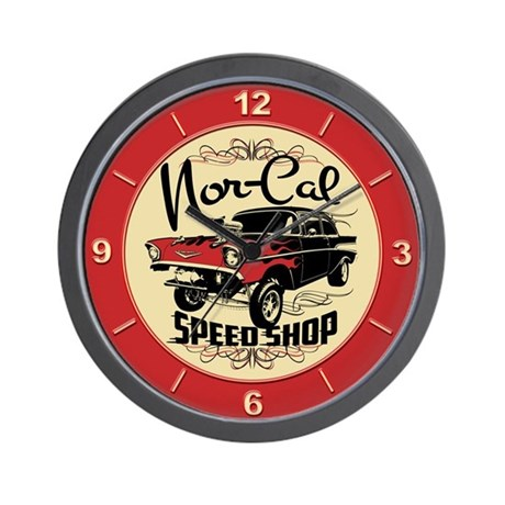 Nor-Cal Chevy Gasser Wall Clock