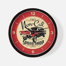 Nor-Cal Chevy Gasser Wall Clock