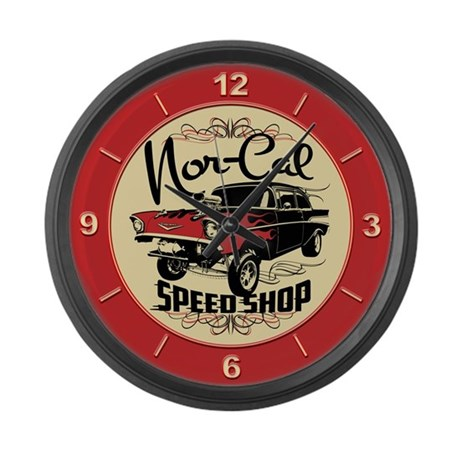 Nor-Cal Chevy Gasser Large Wall Clock