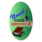 Novel Under Construction Sticker (Oval 50 pk)