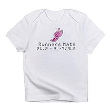 Funny Math running Infant T-Shirt