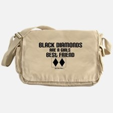 Cute Black diamond Messenger Bag