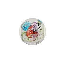 Mouzie Counques Mt. Mushroom Mini Button