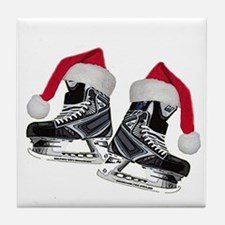 Cute Hockey puck Tile Coaster