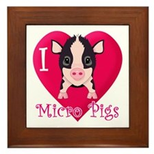 I Love Micro Pigs Framed Tile