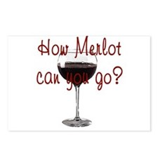 How Merlot Can You Go Postcards (Package of 8)