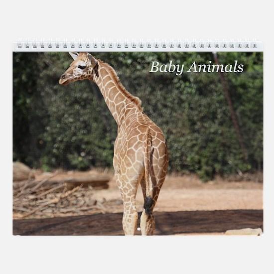 Wall Calendar-Baby Animals