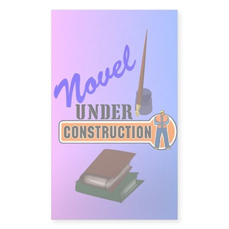 Novel Under Construction Sticker (Rectangle 10 pk)