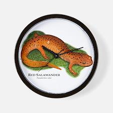 Red Salamander Wall Clock