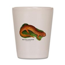 Red Salamander Shot Glass