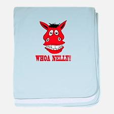 Horse Says Whoa Nelly baby blanket