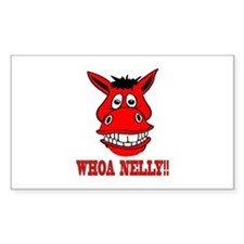 Horse Says Whoa Nelly Decal