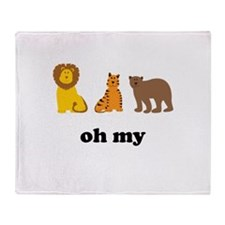 Lions Tigers Bears Oh My Throw Blanket