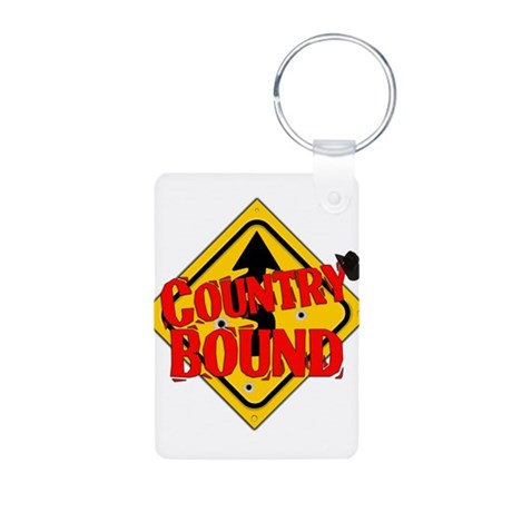 Country Bound Aluminum Photo Keychain