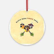 Black Beak Christmas Ornament (Round)